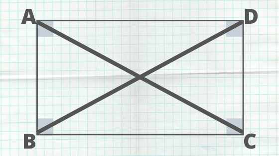 diagonals in a rectangle