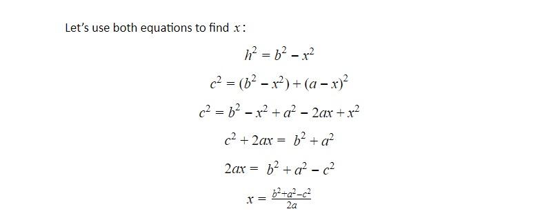 pythagorean theorem with x