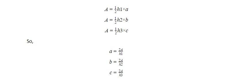 area of triangle formula