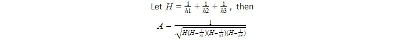 area of triangle square root altitudes