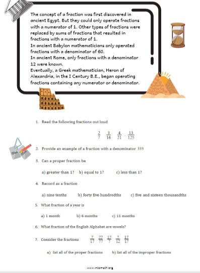 fractions and rational expressions: a concept of a fraction worksheet