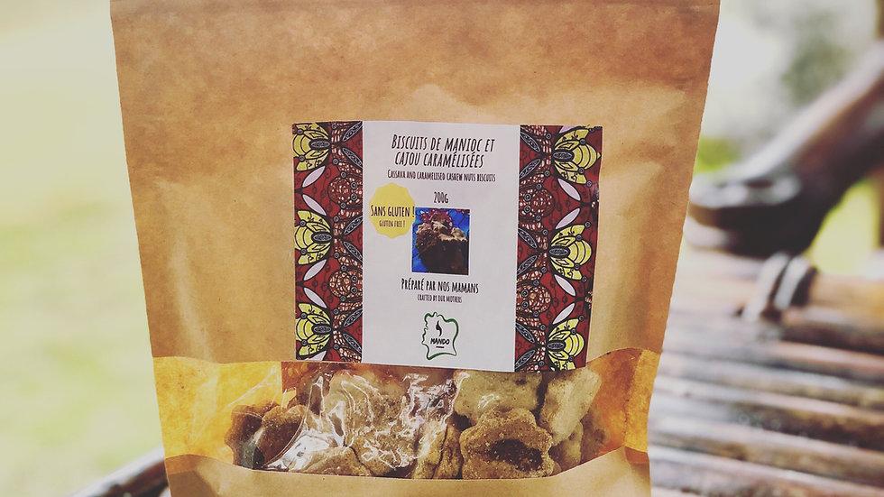 Biscuits manioc et noix de cajou caramélisées