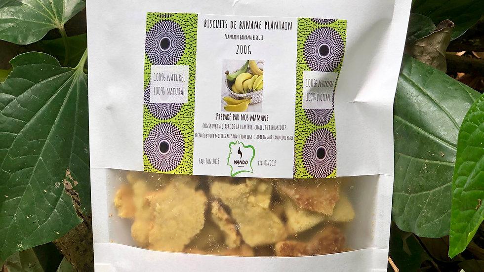 Biscuits de banane plantain