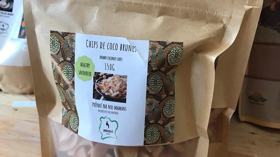 Chips de coco brunes 150g