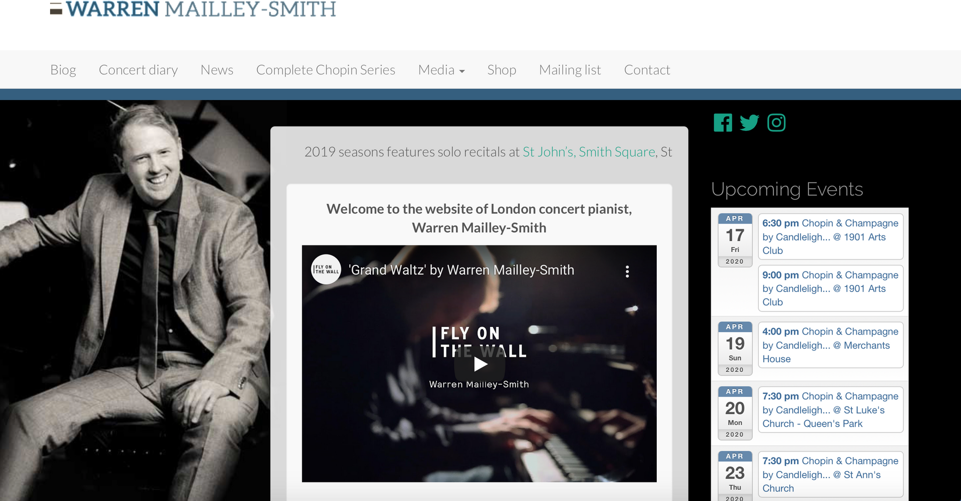 Warren Mailey Smith (adding live performance info to ticket websites)