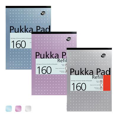 PUKKA PAD A4 160p 弦光點點4孔筆記本4 HOLE METALLIC REFILL PAD