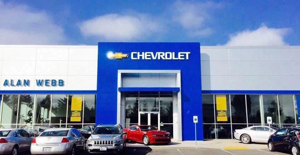 alan webb chevy store front