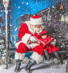 Santa Reading a Book with English girl (