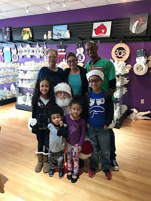 Santa Willie at Creativity Cafe