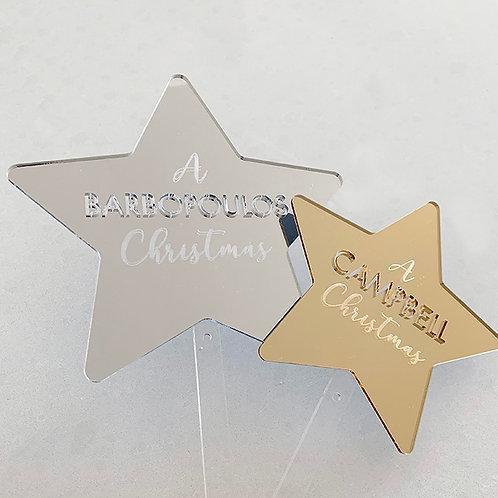 (LARGE) Family Christmas Tree Stars
