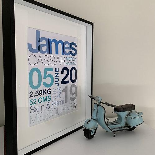 Birthdate Posters (3 Colour)
