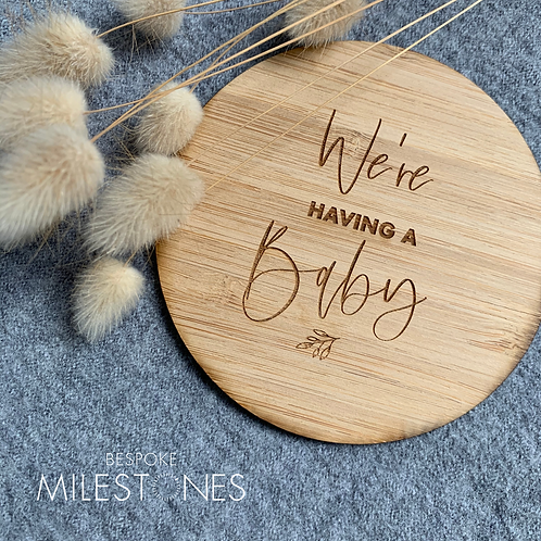 Small bamboo announcement plaques