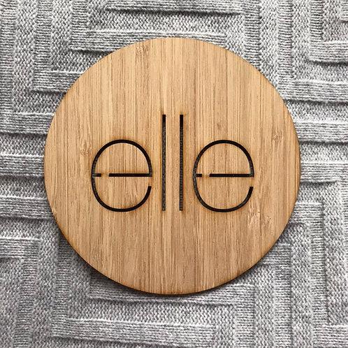 Bamboo circular name plaques