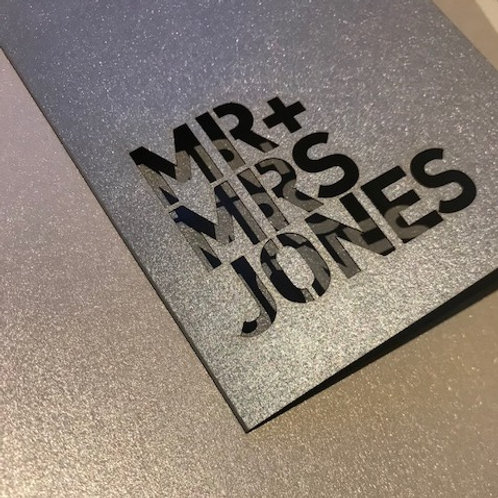 Laser Cut Wedding Card with Envelope