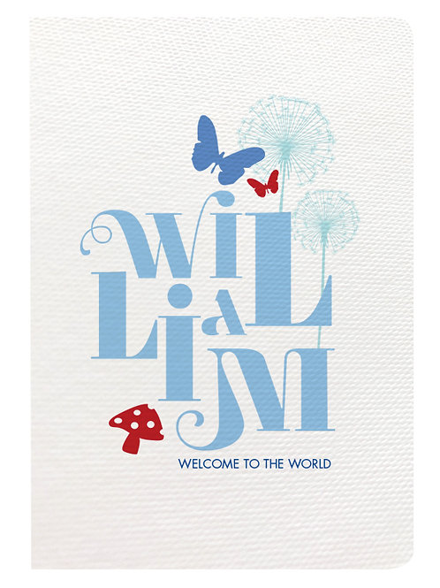 Welcome to the World (Blue, Mint & Red)