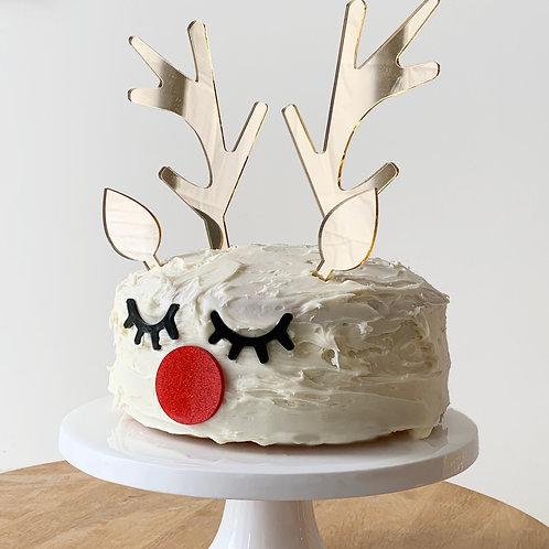 Rudolph cake topper set for Chrissy