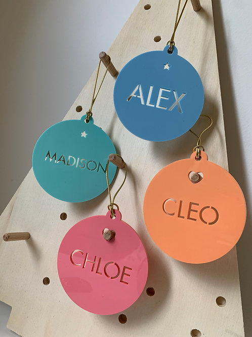 Christmas Baubles (Name cut out)
