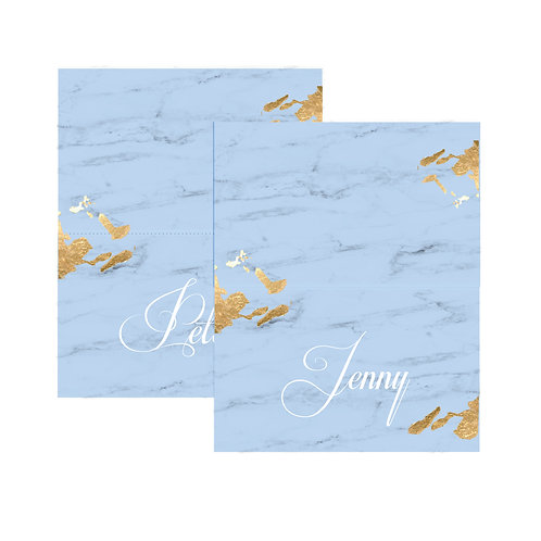Blue Marble Placecards (20 Pack)