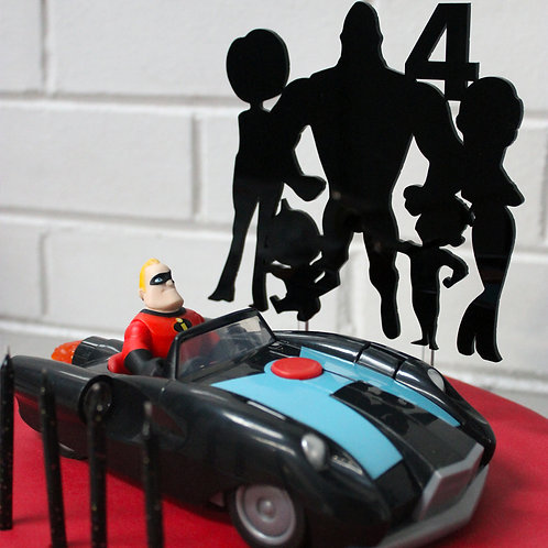 The Incredibles inspired with number