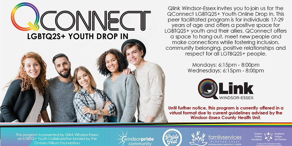 QConnect Youth Drop In (Ages 17-29)