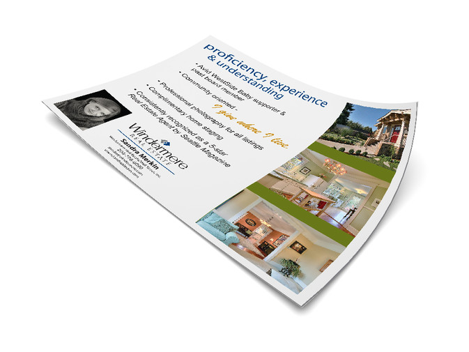 Windermere Flyer for West Seattle Agent
