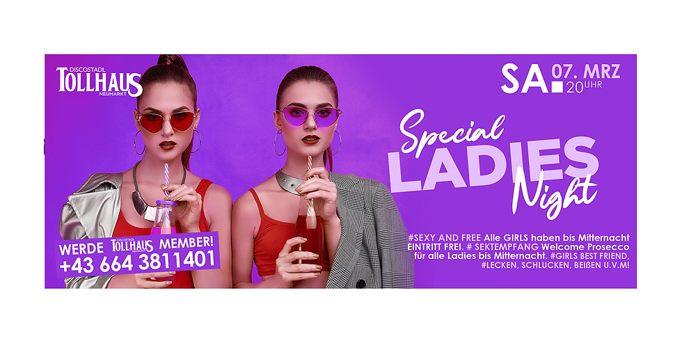Special LADIES Night am Weltfrauentag!