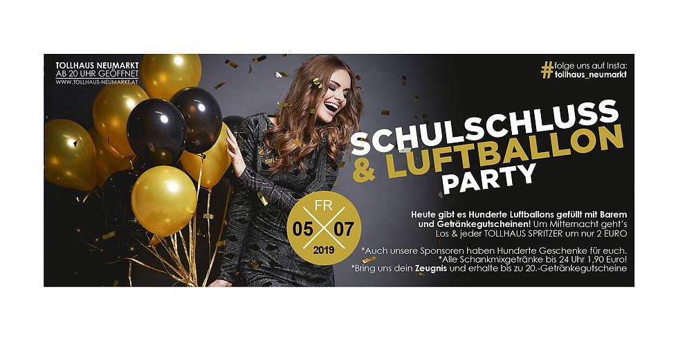Schulschluss & Luftballon-Party!