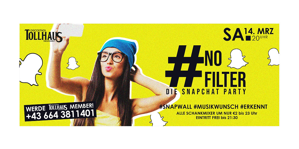 #NOFILTER - Die Snapchat Party!