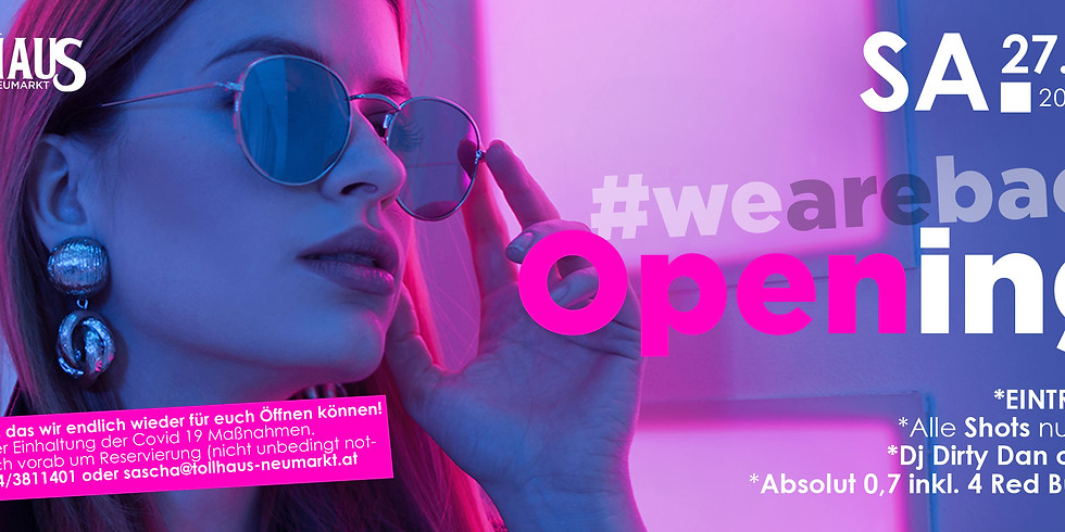 Opening we are back