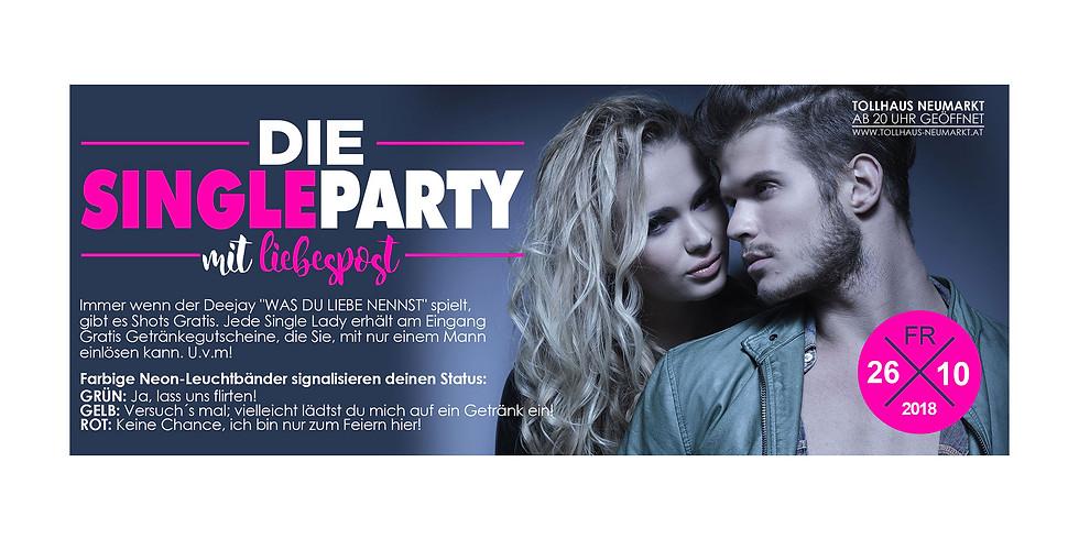 Die Single Party mit Liebespost!