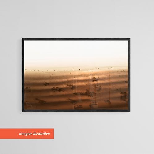 Rastros na Areia - Quadro Fotográfico