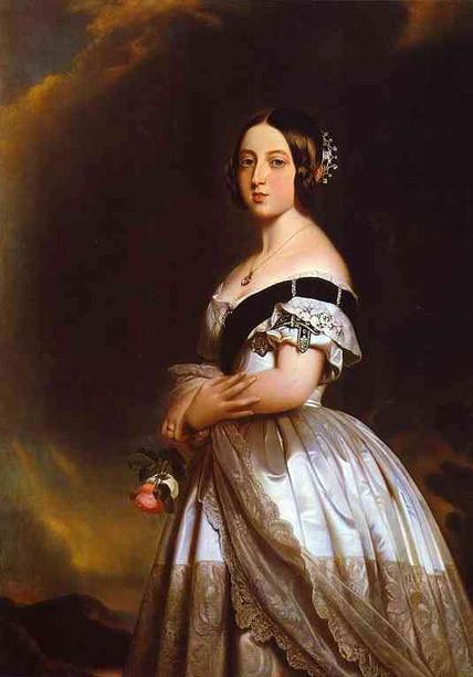 Rainha Victória, da Inglaterra - Pintada por Franz Winterhalter em 1843
