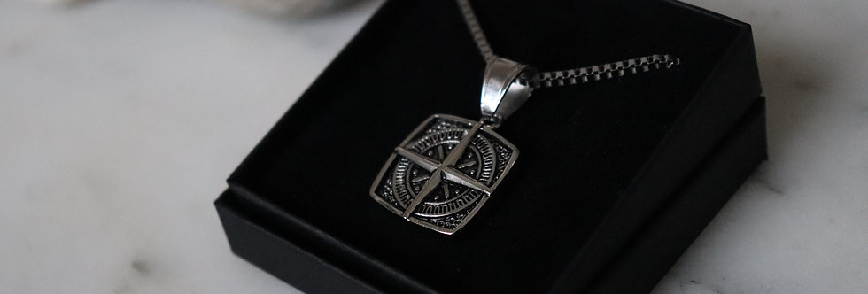 Square Compass Necklace