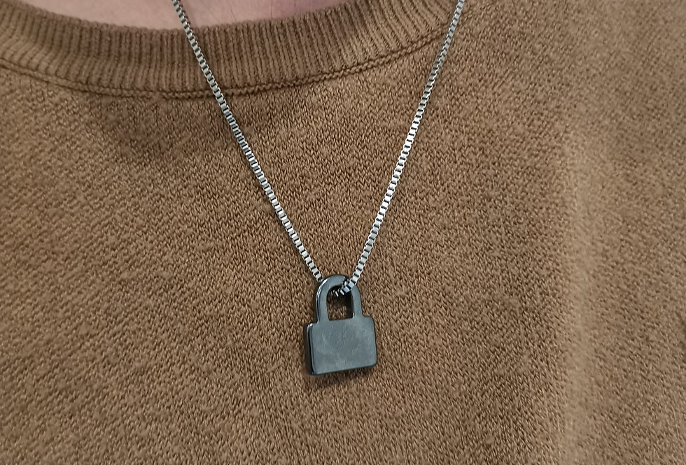 Hematite Lock Necklace