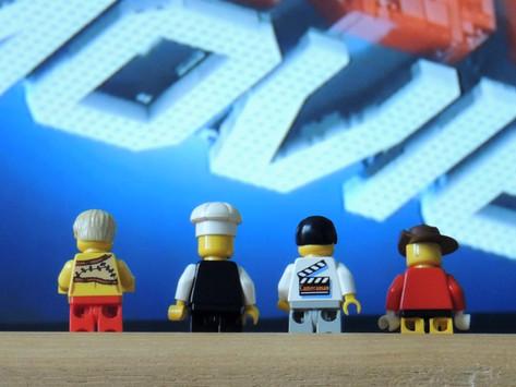 lego men watching the lego movie