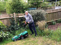 18-4 IN THE GARDEN - WILL WITH THE LAWN