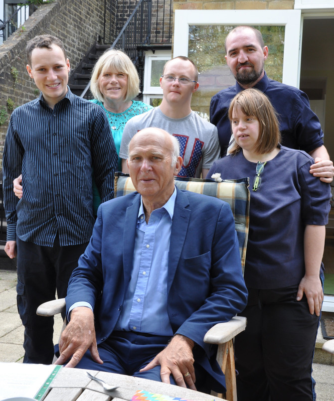 Tea and cake with Vince Cable ...