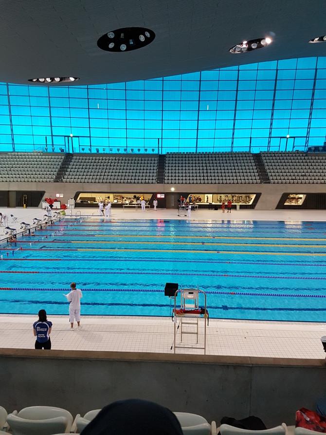 Training at Stratford Olympic Pool ...