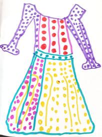 1970s Laura Ashley inspired Spotted Dress long sleeves.jpg