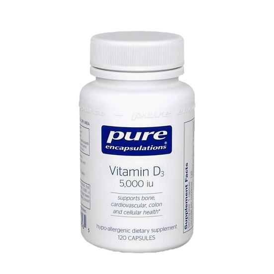 Pure Encapsulations | Vitamin D3 5000 IU | 120 capsules
