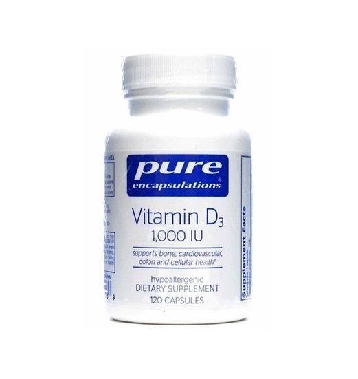 Pure Encapsulations | Vitamin D3 1000 IU | 120 capsules