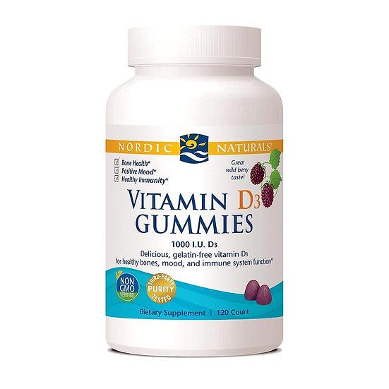 Nordic Naturals | Vitamin D3 Gummies 1000 IU | 60 gummies