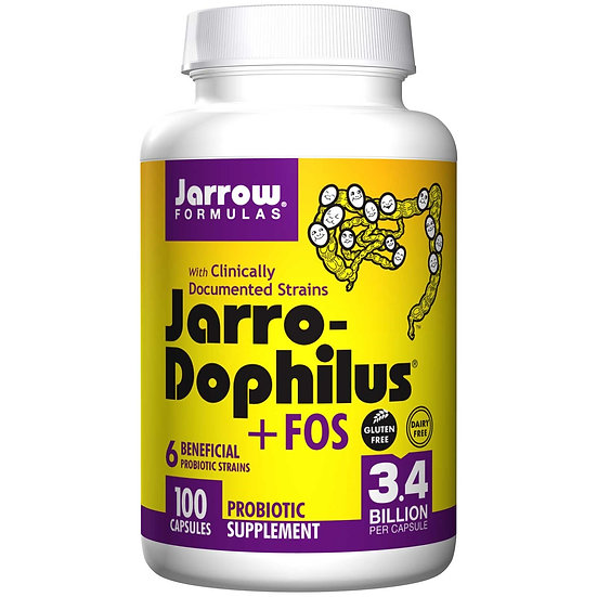 Jarro-Dophilus +FOS 3.4 Billion 6 strains | 100 capsules