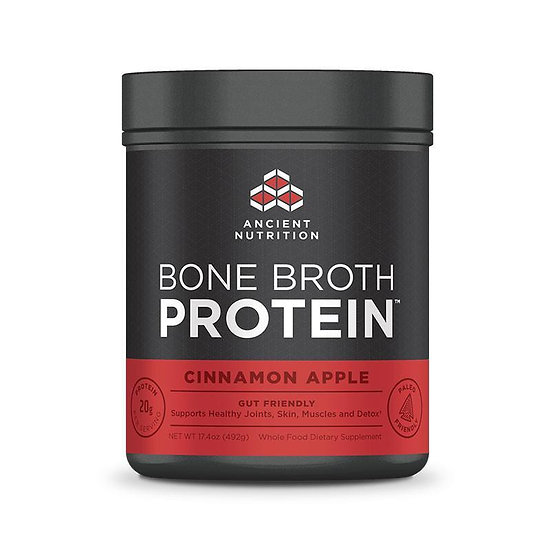 Ancient Nutrition - Bone Broth Protein Cinnamon Apple - 17.4 oz