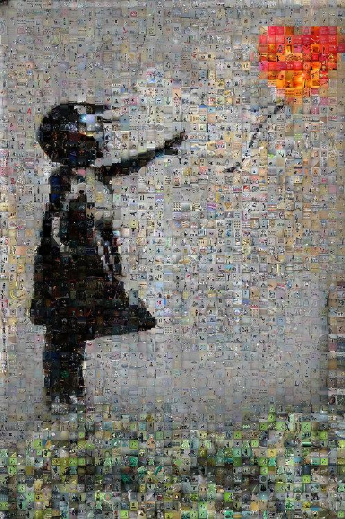 Banksy Balloon Girl Mosaic