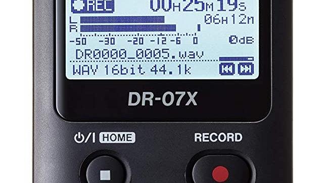 Tascam DR-07X Stereo Handheld Digital Audio Recorder