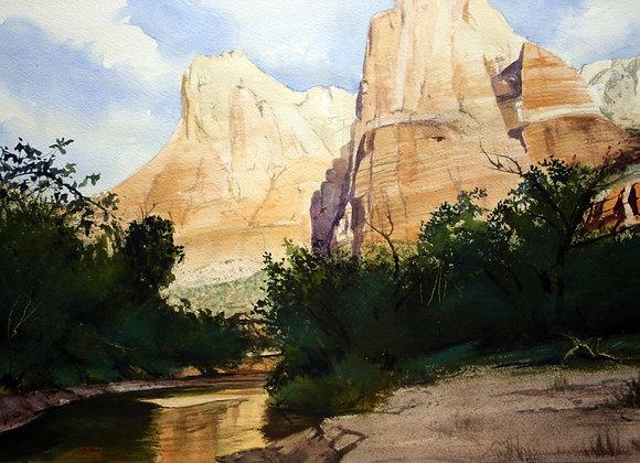 Light on Zion Peaks