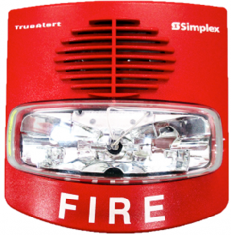 Simplex Dispositivo de Notificación Av, Wall Red Fire