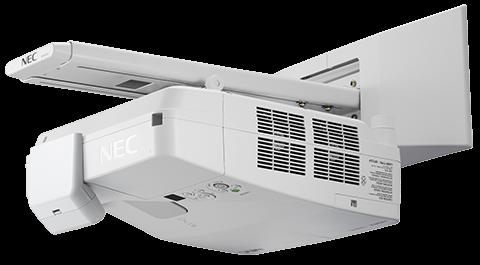 NEC Proyector de alcance ultracorto de 3600 lúmenes con soporte de pared