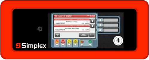 Simplex Anunciador 4007ES LCD ANNUN, Red